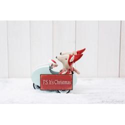 "Weihnachtsmagnetschild ""P.S. it`s Christmas"""