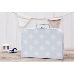 """Koffer """"Blau mit weissen Sternen"""" gross"""
