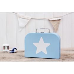 """Koffer """"Blau mit weissem Stern"""" mittel"""
