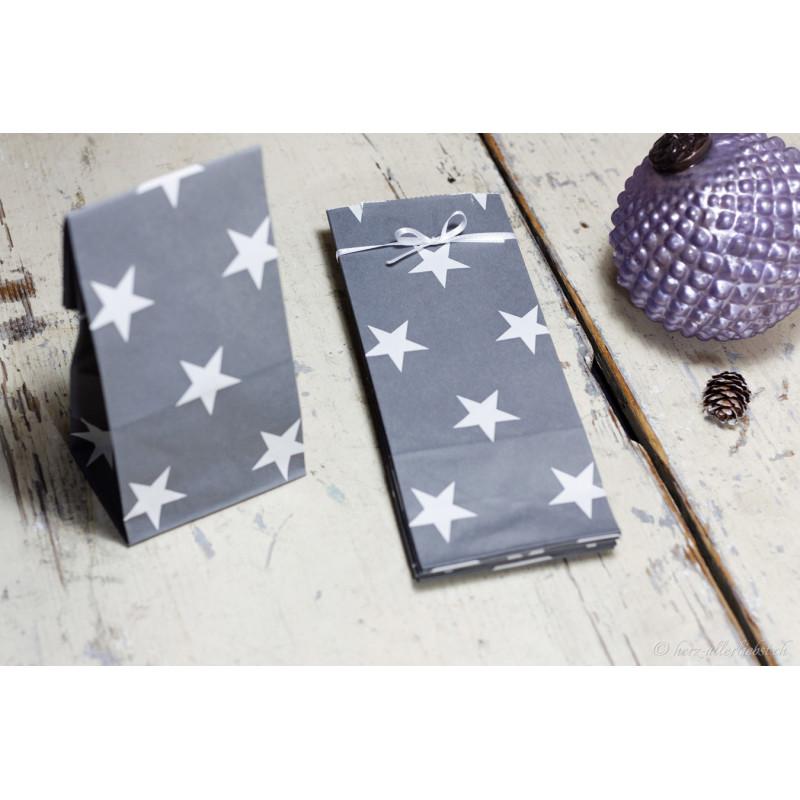 """Geschenktüten """"Sterne grau"""""""