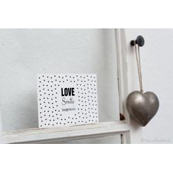 "Karte ""Love Smile & Happiness"""