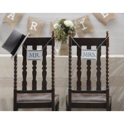 "Holzschilder ""Mr. & Mrs."""