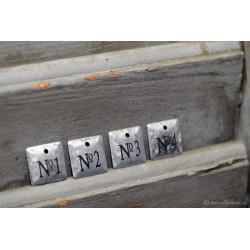 Metall-Anhängerschild Nr. 1-4