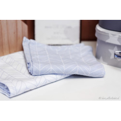 """""""Noschi"""" Swaddle Tuch blue leaves"""