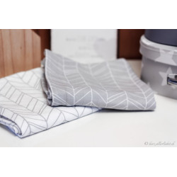"""Noschi"" Swaddle Tuch im 2er Set grey leaves"