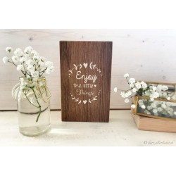 "Holzschild im Vintage Stil ""enjoy the little things"""