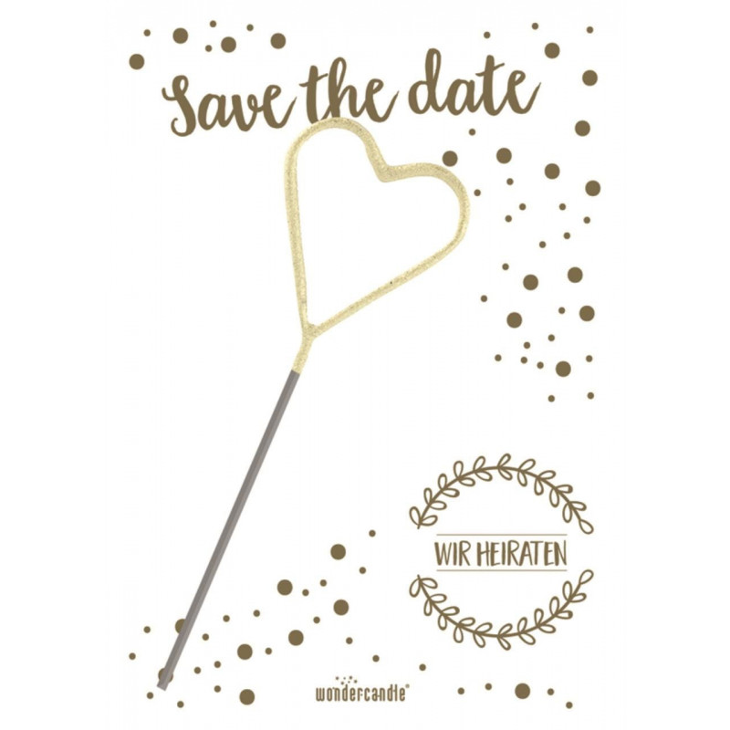 "Wunderkerze ""Save the date"""