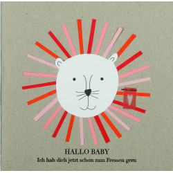 "Glückwunschkarte ""Hallo Baby"""