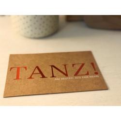 "Postkarte ""Tanz!"""