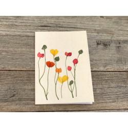 """Herzblüten Karte """"bunte Blüten"""""""