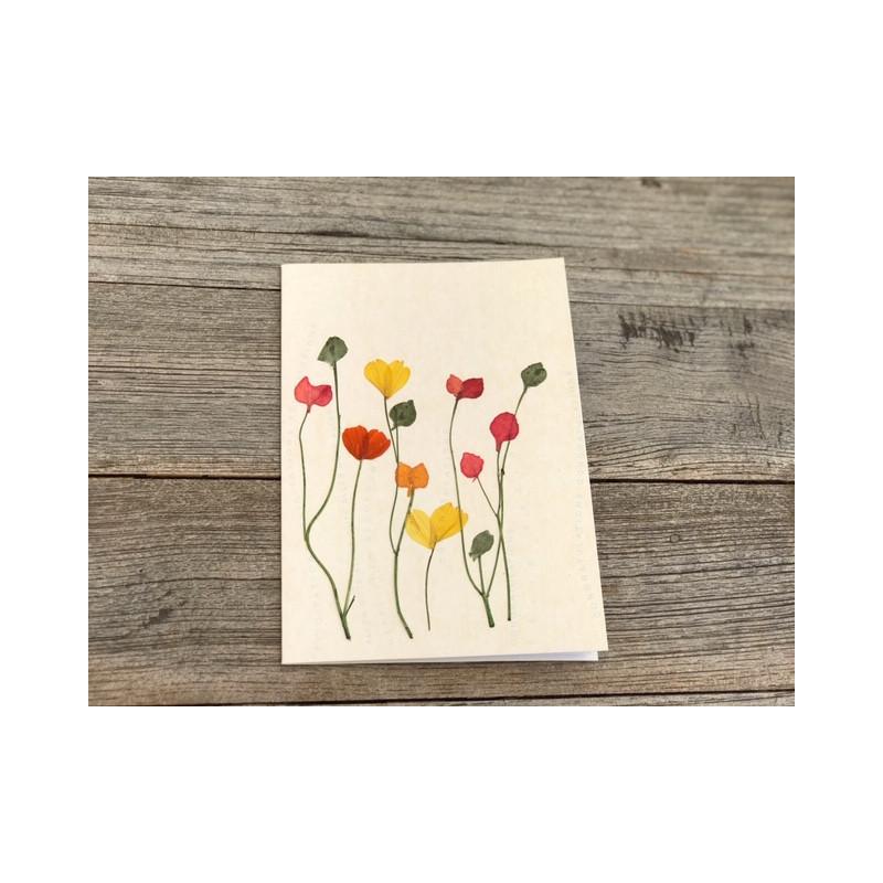 """Herzblüten Karte 2 Mohnblumen """"herzlichen Glückwunsch"""""""