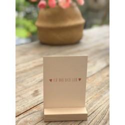 "Karte ""Ich hab dich lieb"""