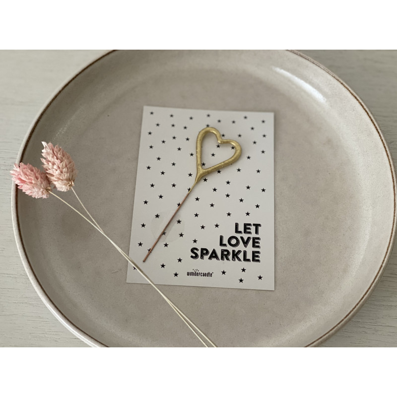 "Wunderkerze ""Let Love sparkle"""