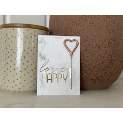 "Wunderkerze ""Love to be happy"""