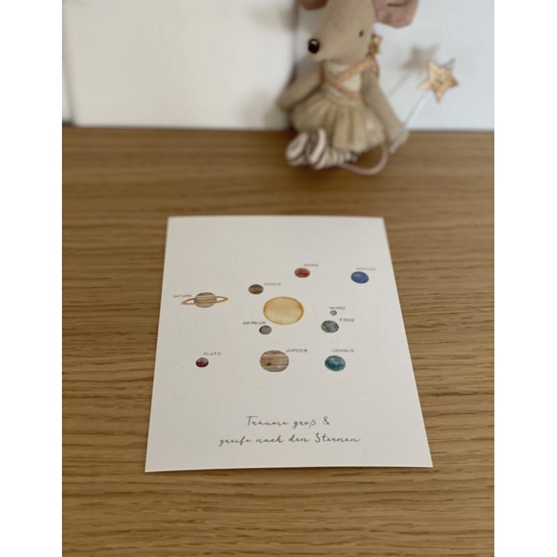 "Glückwunschkarte ""Sonnensystem"""