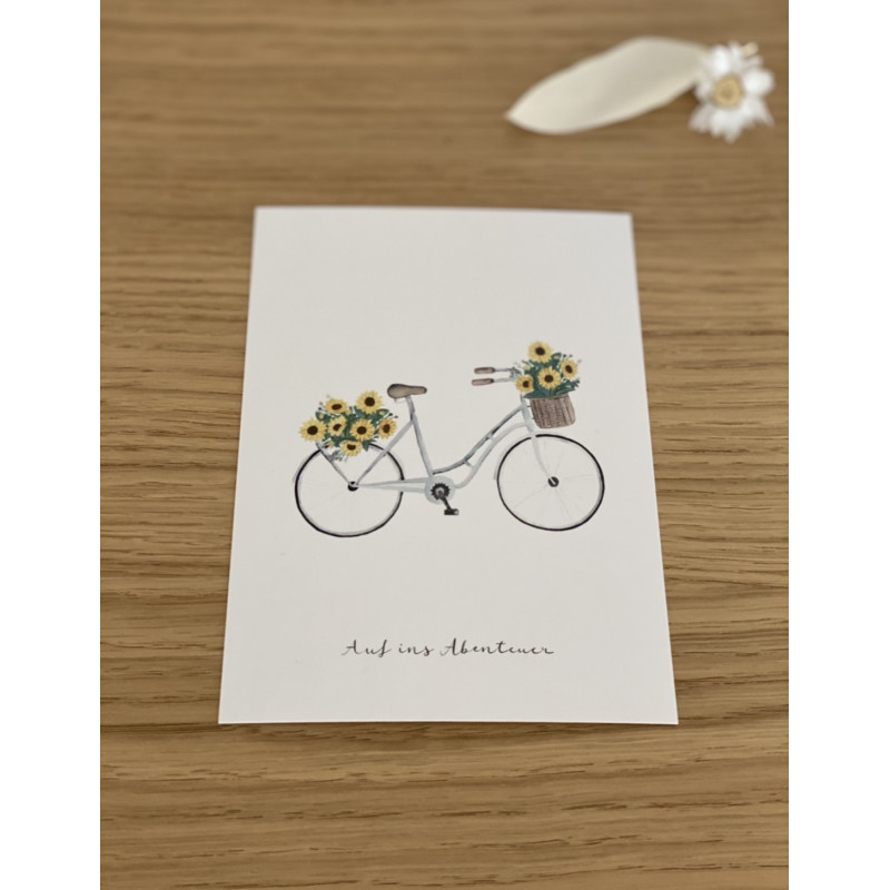 "Postkarte ""Blumenfahrrad"""