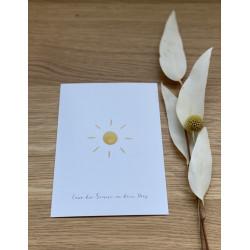 "Postkarte ""Sonne"""