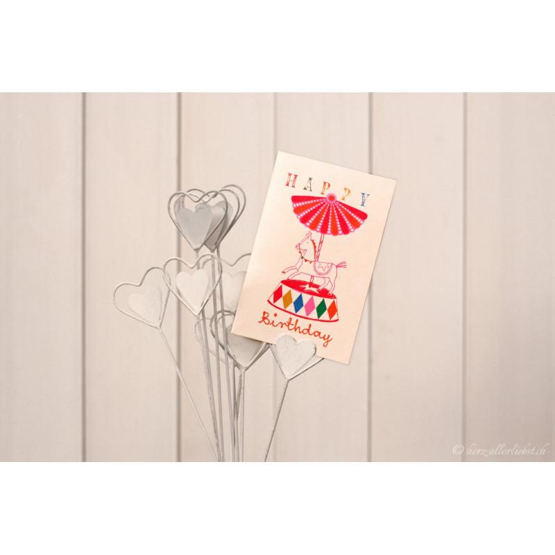 """Karte """"Happy Birthday"""" Karussell"""