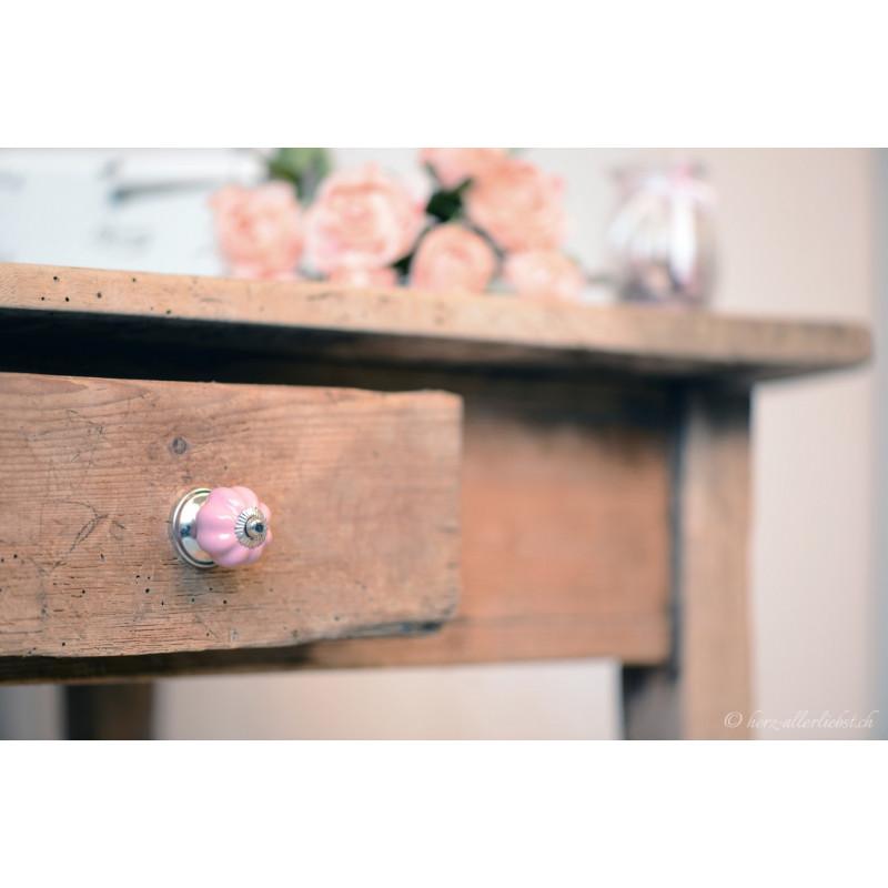Möbelgriff Blumenform pastellrosa