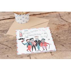 "Geburtstagskarte ""Singende Männer"""