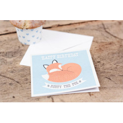 "Geburtstagskarte ""Rusty the Fox"""