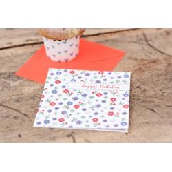 "Geburtstagskarte ""Blumenwiese"""