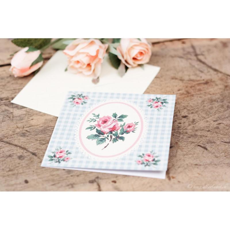 """Karte """"Vintage Rose"""""""