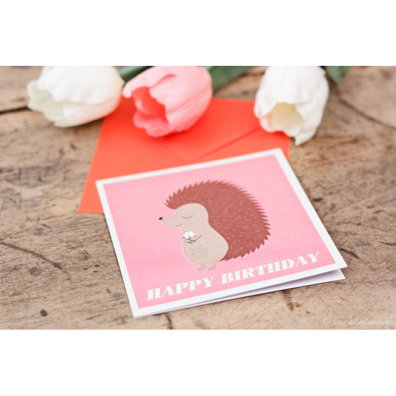 "Geburtstagskarte ""Igel"""