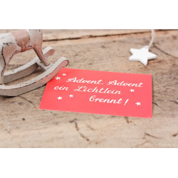"Karte ""Advent, Advent"""