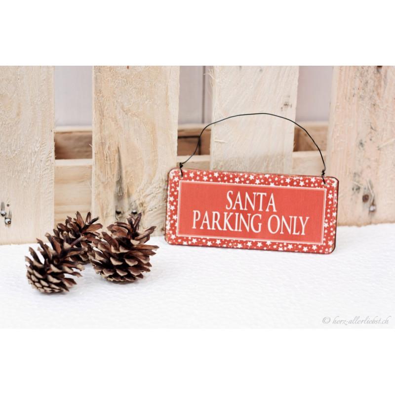 """Kleines Weihnachtsmetallschild """"Santa"""""""