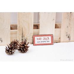 """Weihnachtsmagnetschild """"Dear Santa"""""""