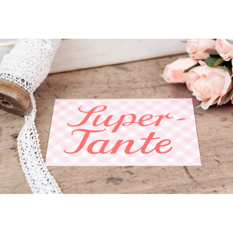 "Karte ""Super Tante"""
