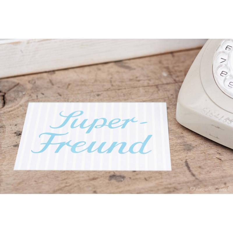 """Karte """"Super Freund"""""""