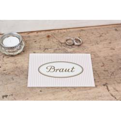 "Karte ""Braut"""