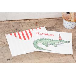 "Kindergeburtstagseinladungkarten ""Krokodil"""
