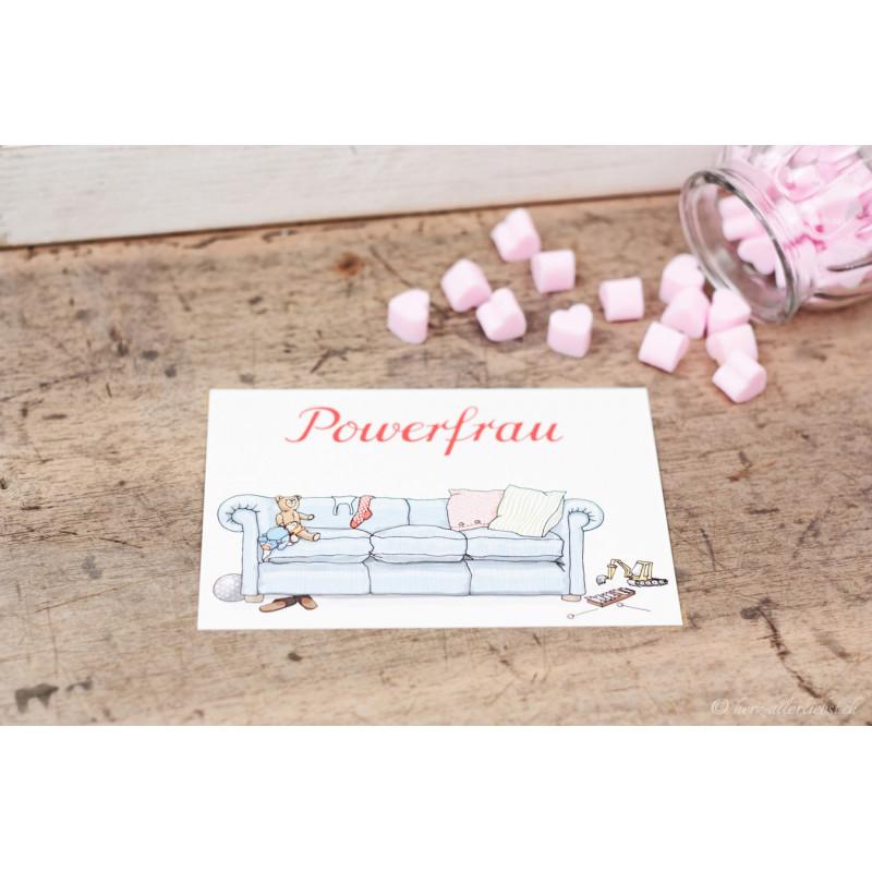 """Karte """"Powerfrau"""""""