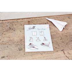"Karte ""Papierflieger"""