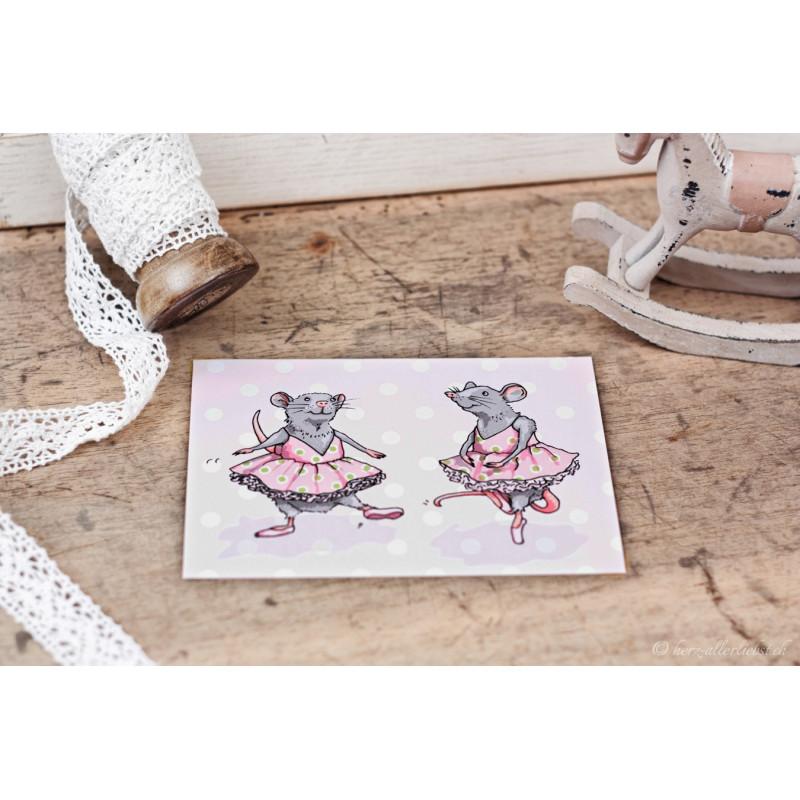 """Karte """"Balletmaus"""""""