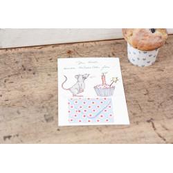 """Karte mit Briefchen """"Torte"""""""