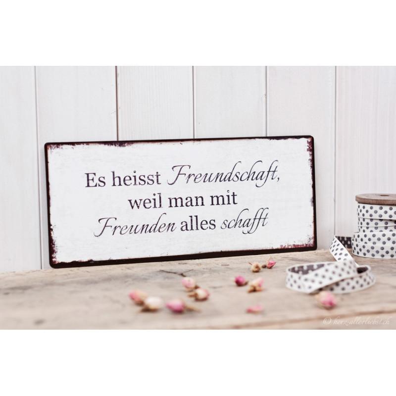 """Metallschild """"Freundschaft"""""""