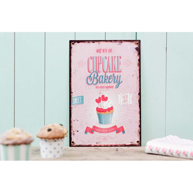 "Metallschild ""Cupcake"""